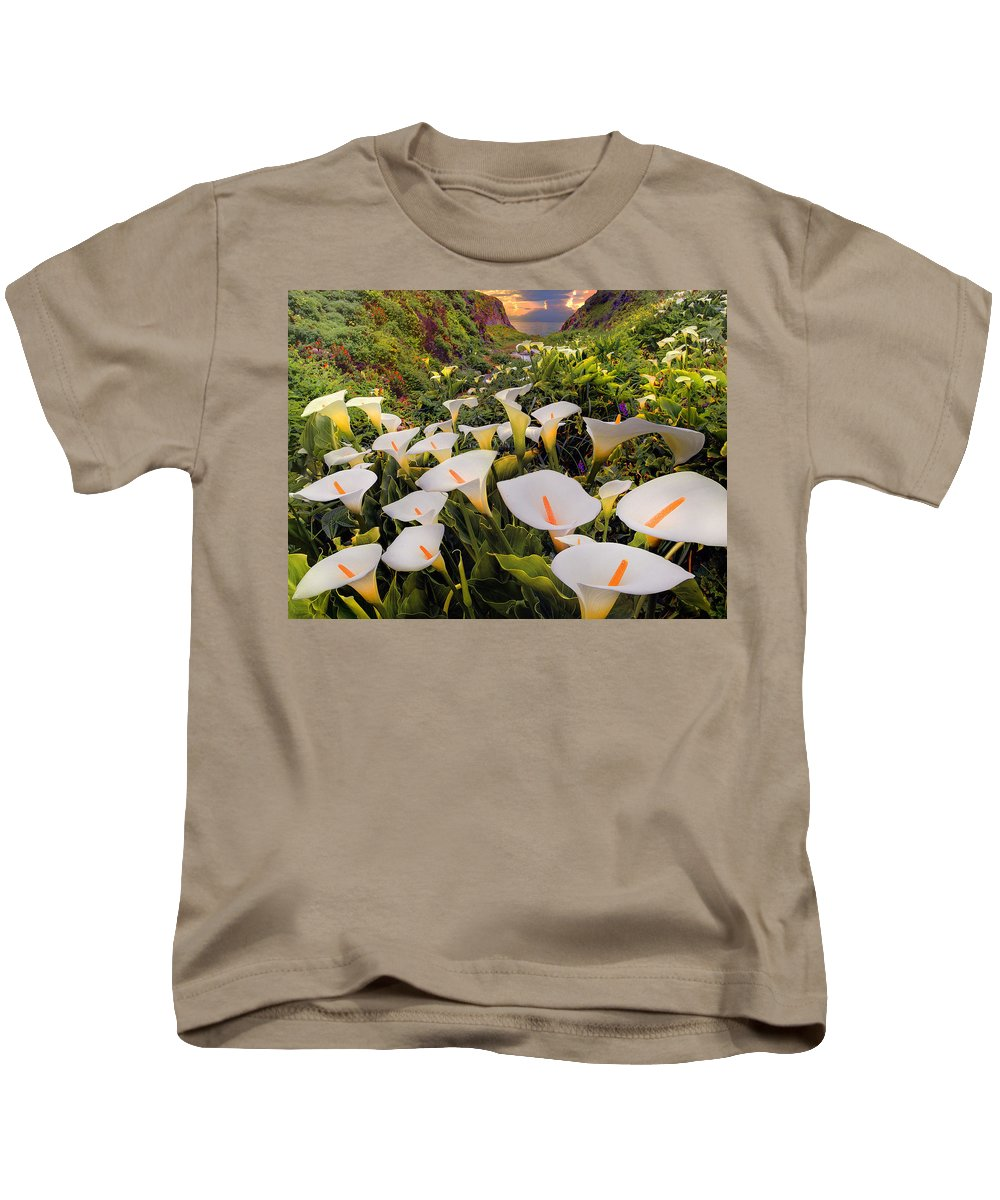 Calla Lily Kids T-Shirt featuring the digital art Calla Lily by Dorothy Binder