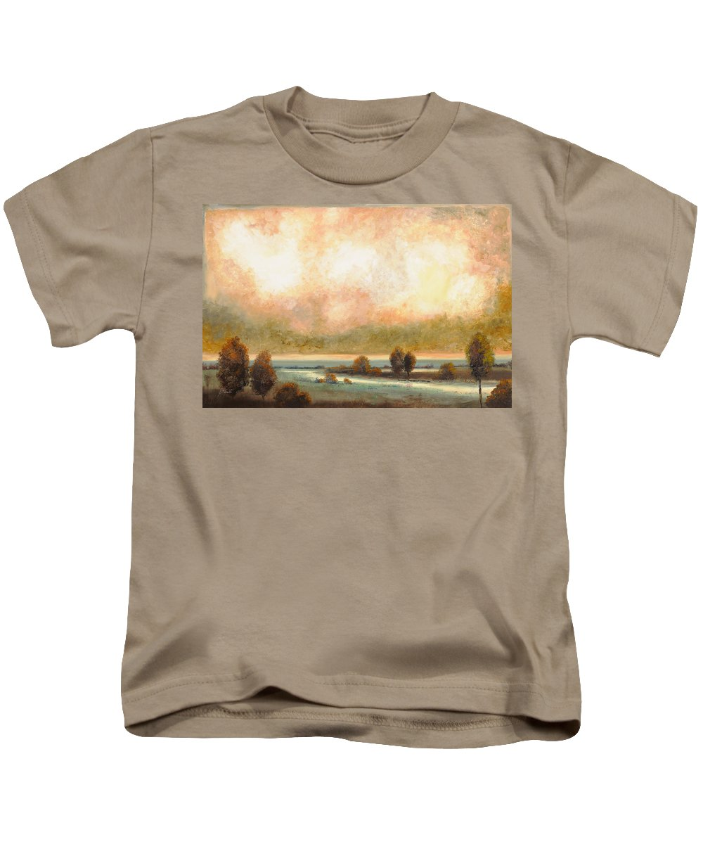Pond Kids T-Shirt featuring the painting Calor Bianco by Guido Borelli