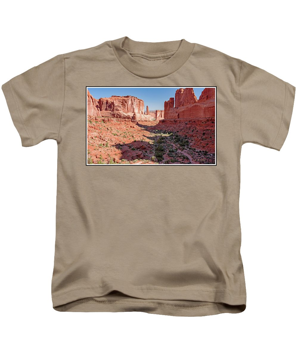 Arches National Park Kids T-Shirt featuring the photograph Arches National Park, Moab, Utah by A Gurmankin