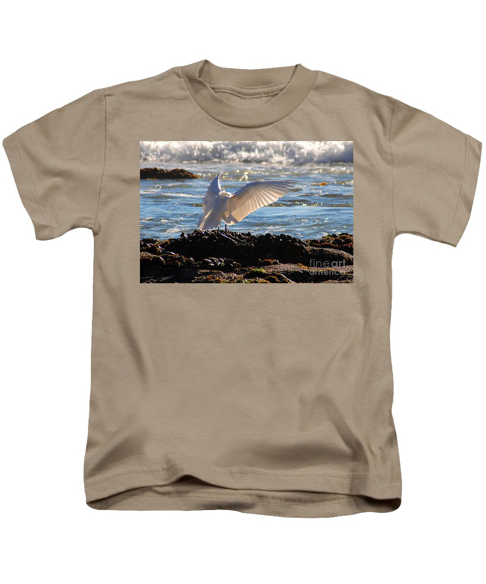 Clay Kids T-Shirt featuring the photograph Catching Rays At The Beach by Clayton Bruster