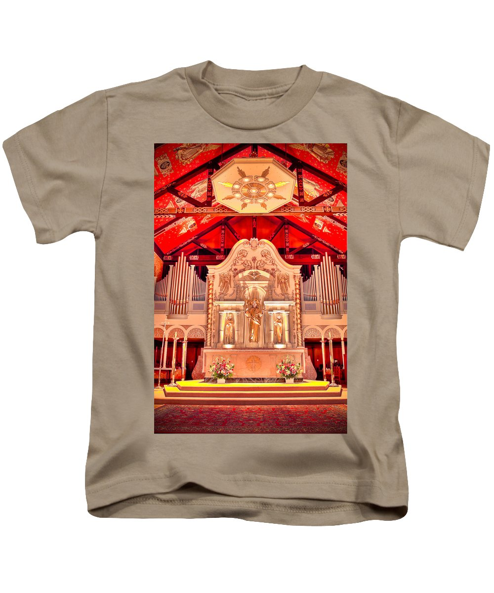 Cathedral Kids T-Shirt featuring the photograph Cathedral Basilica Of St. Augustine by Rich Leighton