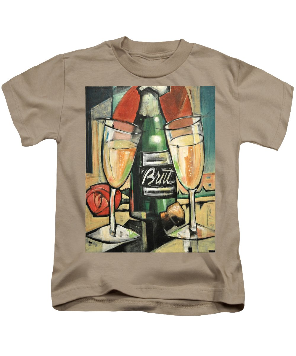 Champagne Kids T-Shirt featuring the painting Celebrate With Bubbly by Tim Nyberg