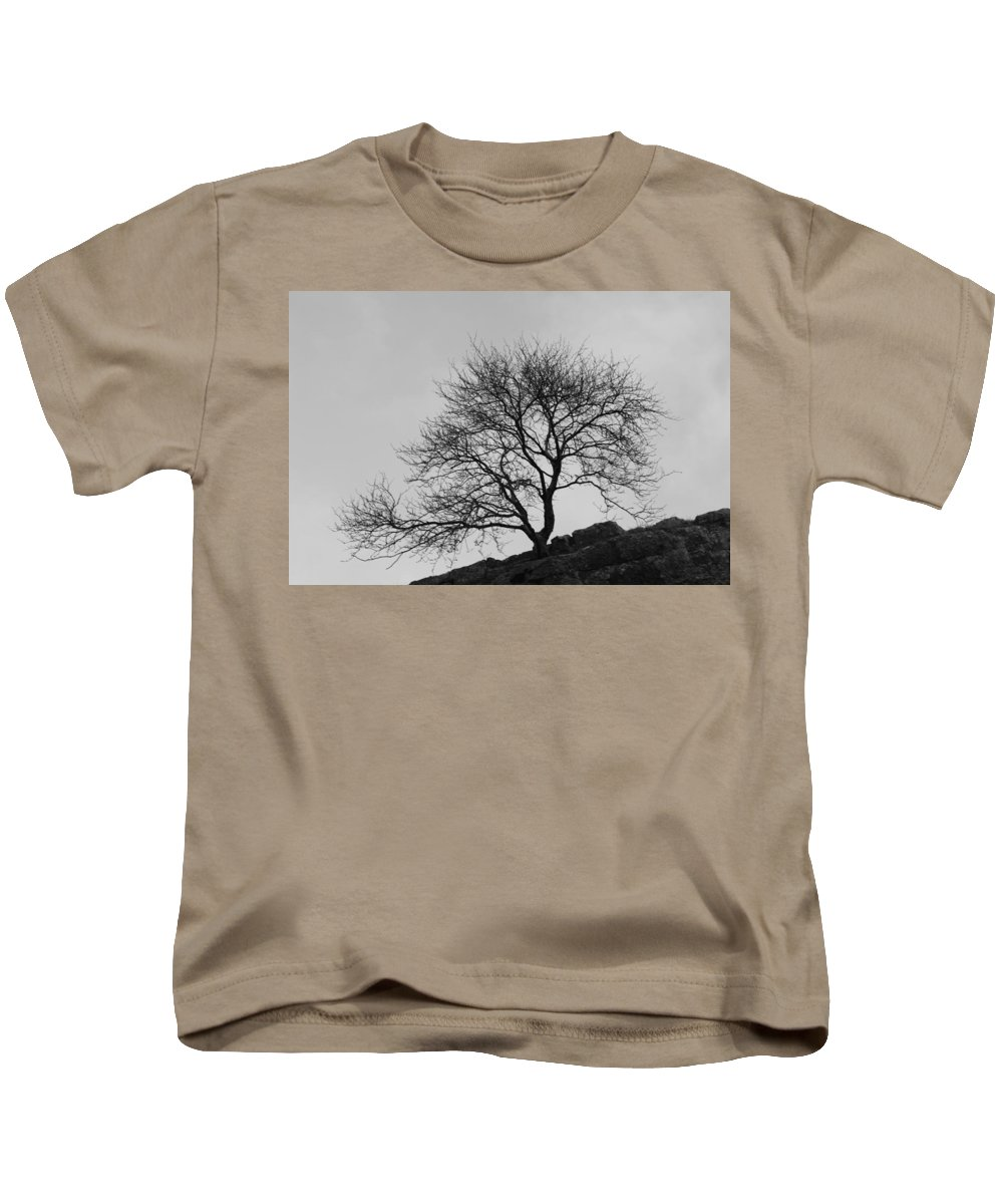 Tree Kids T-Shirt featuring the photograph Cheddar Gorge Tree by Lauri Novak