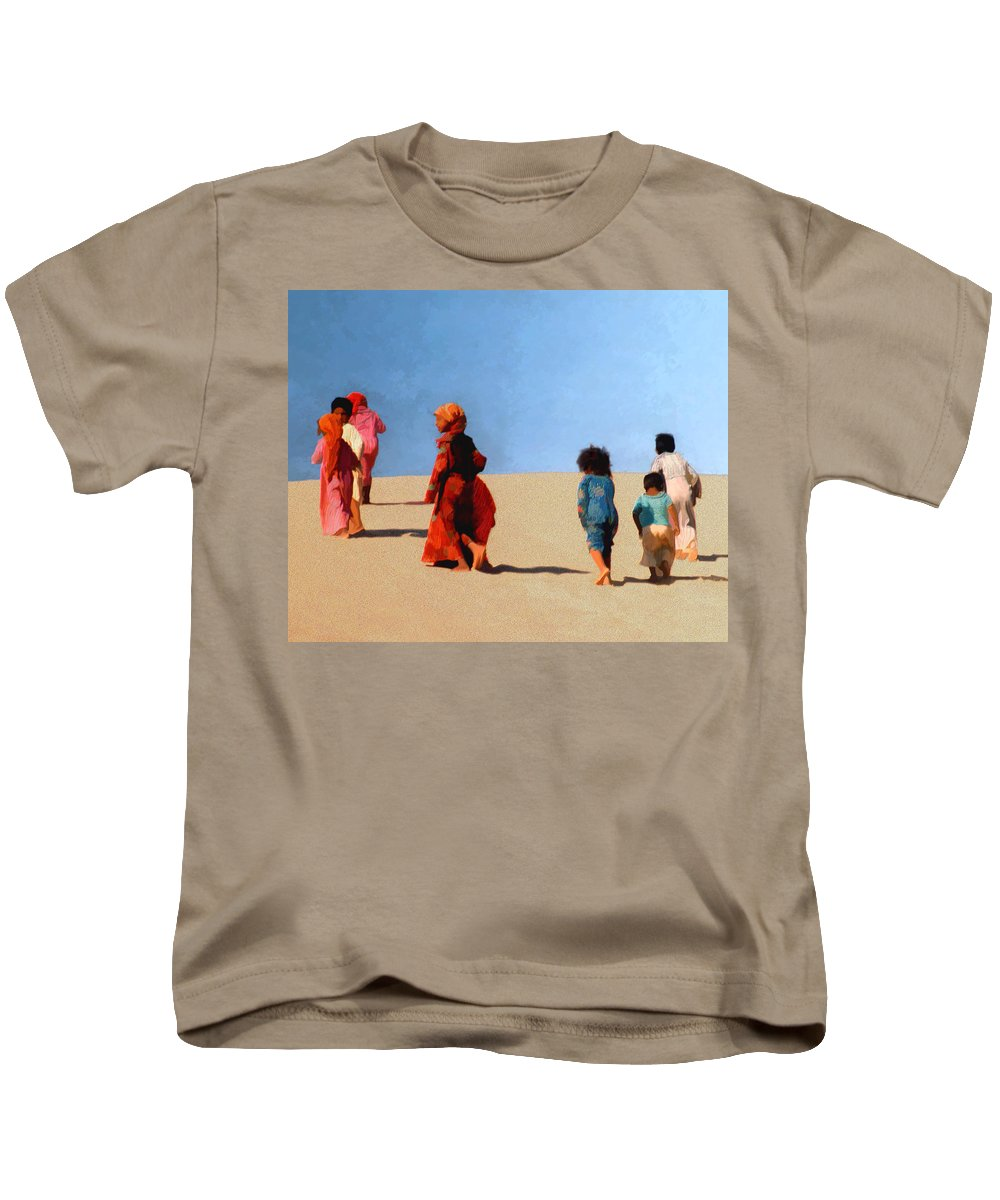 Children Kids T-Shirt featuring the photograph Children Of The Sinai by Kurt Van Wagner