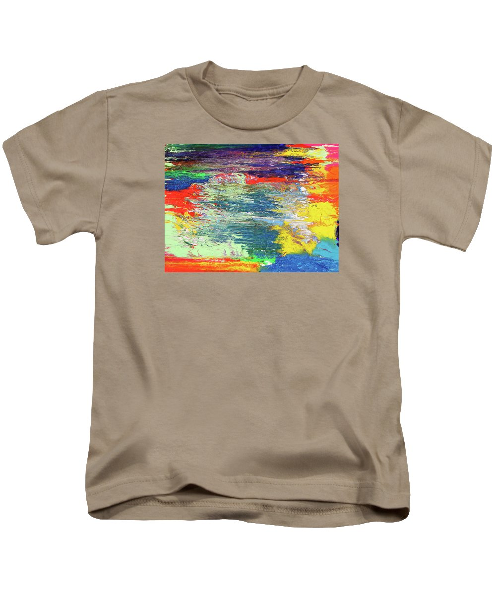Fusionart Kids T-Shirt featuring the painting Chromatic by Ralph White