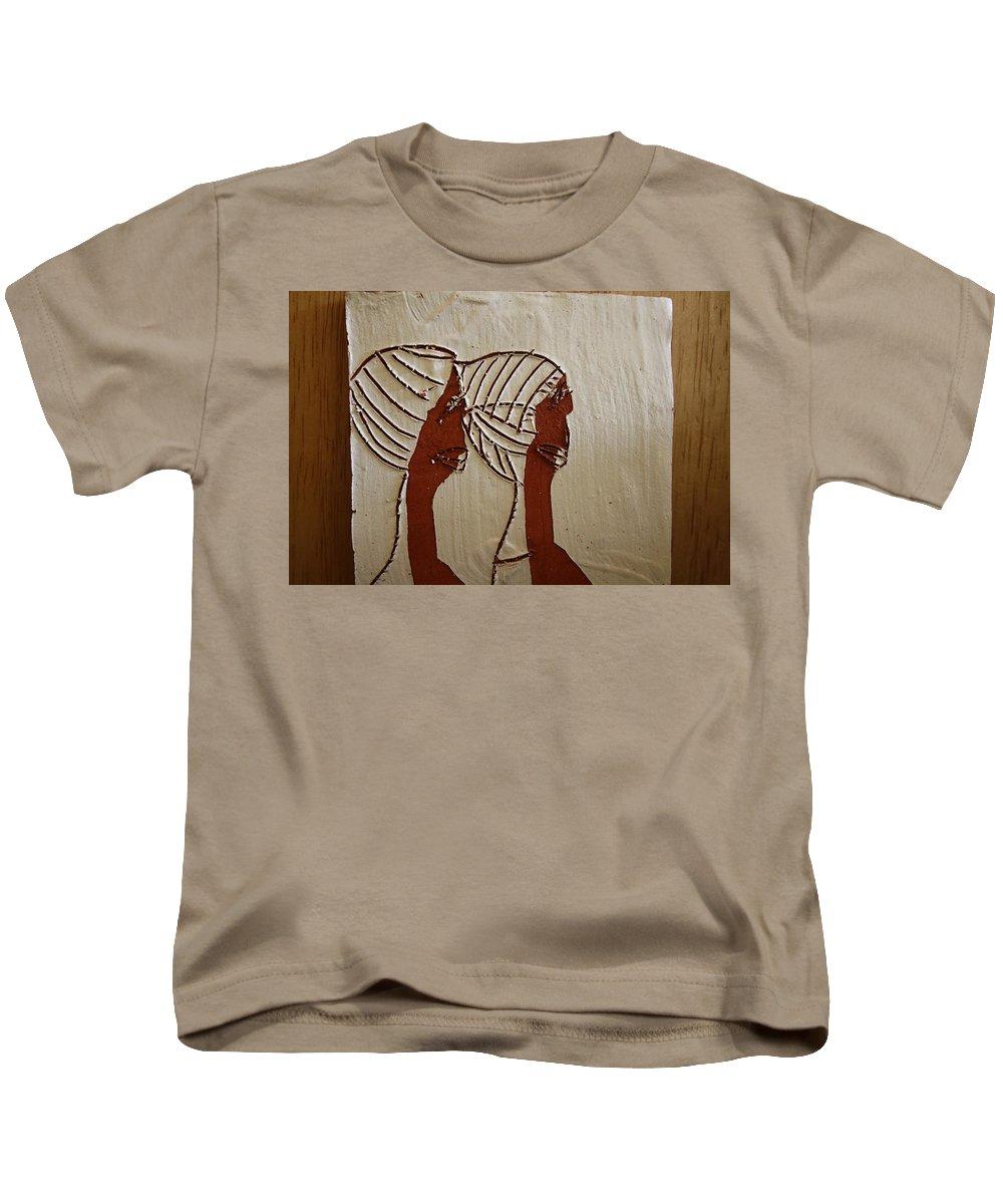 Jesus Kids T-Shirt featuring the ceramic art Church Ladies - Tile by Gloria Ssali
