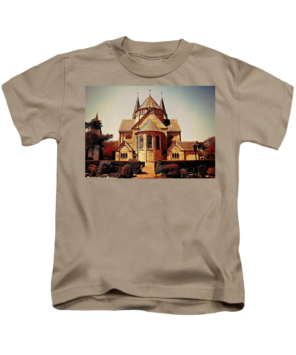 Announcement Kids T-Shirt featuring the photograph Church To Worship The Living God Catus 1 No. 1 H B by Gert J Rheeders