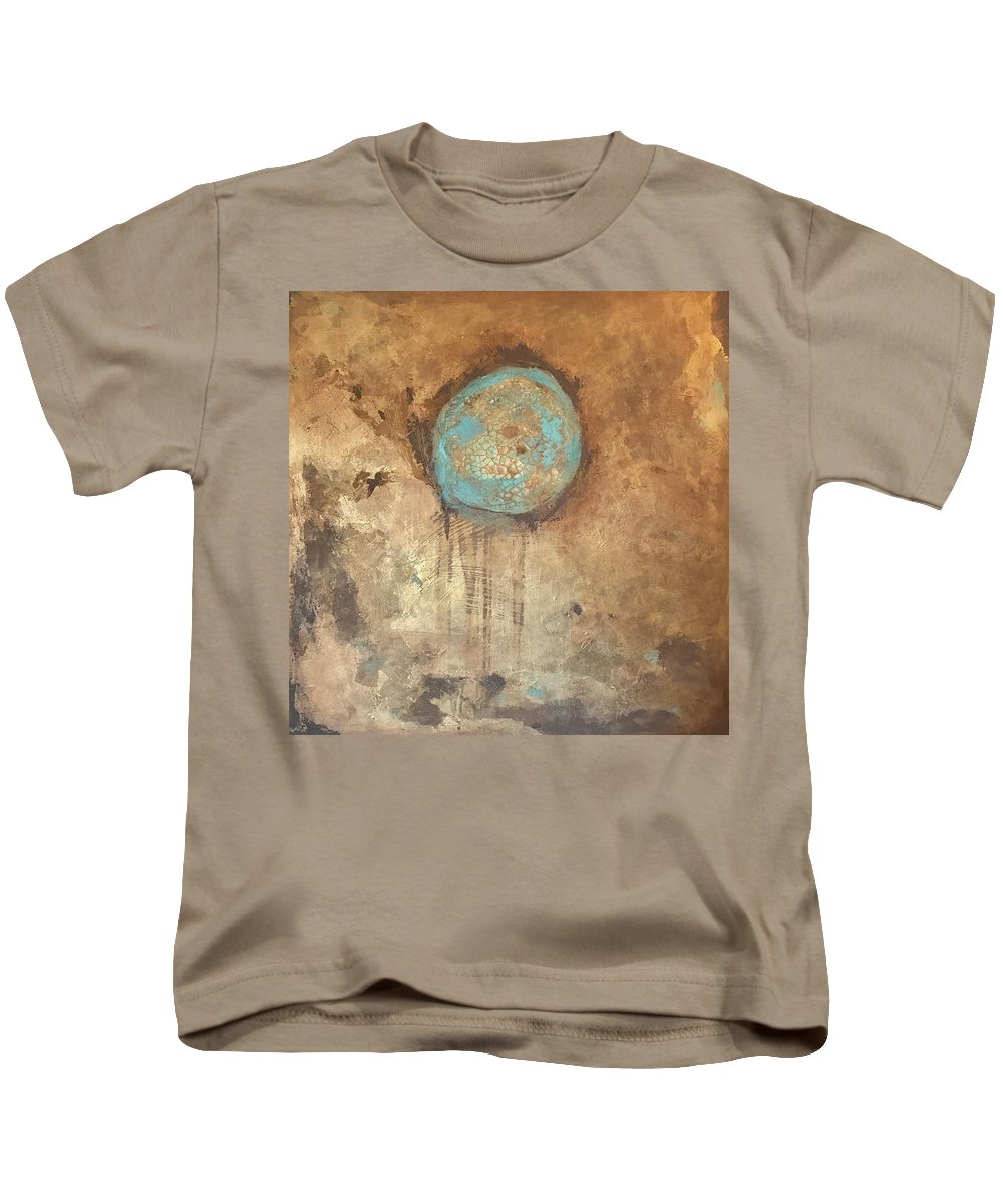 Metallics Kids T-Shirt featuring the painting Circle Of Friendship by Suzaine Smith