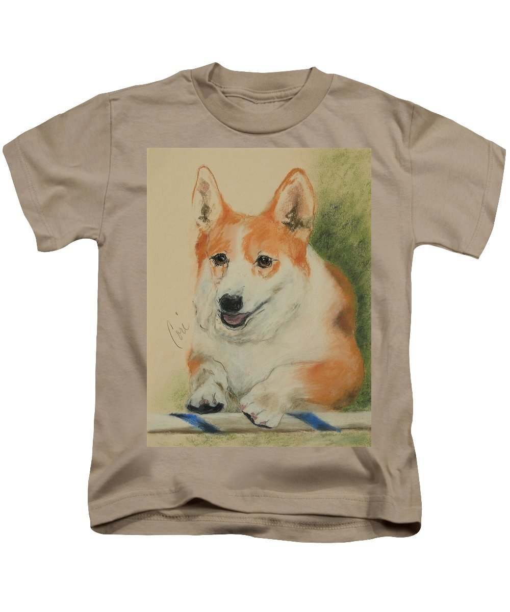 Pastel Kids T-Shirt featuring the drawing Clear Run by Cori Solomon