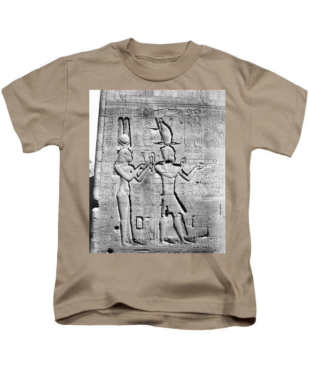 Science Kids T-Shirt featuring the photograph Cleopatra And Caesarion, Temple by Science Source