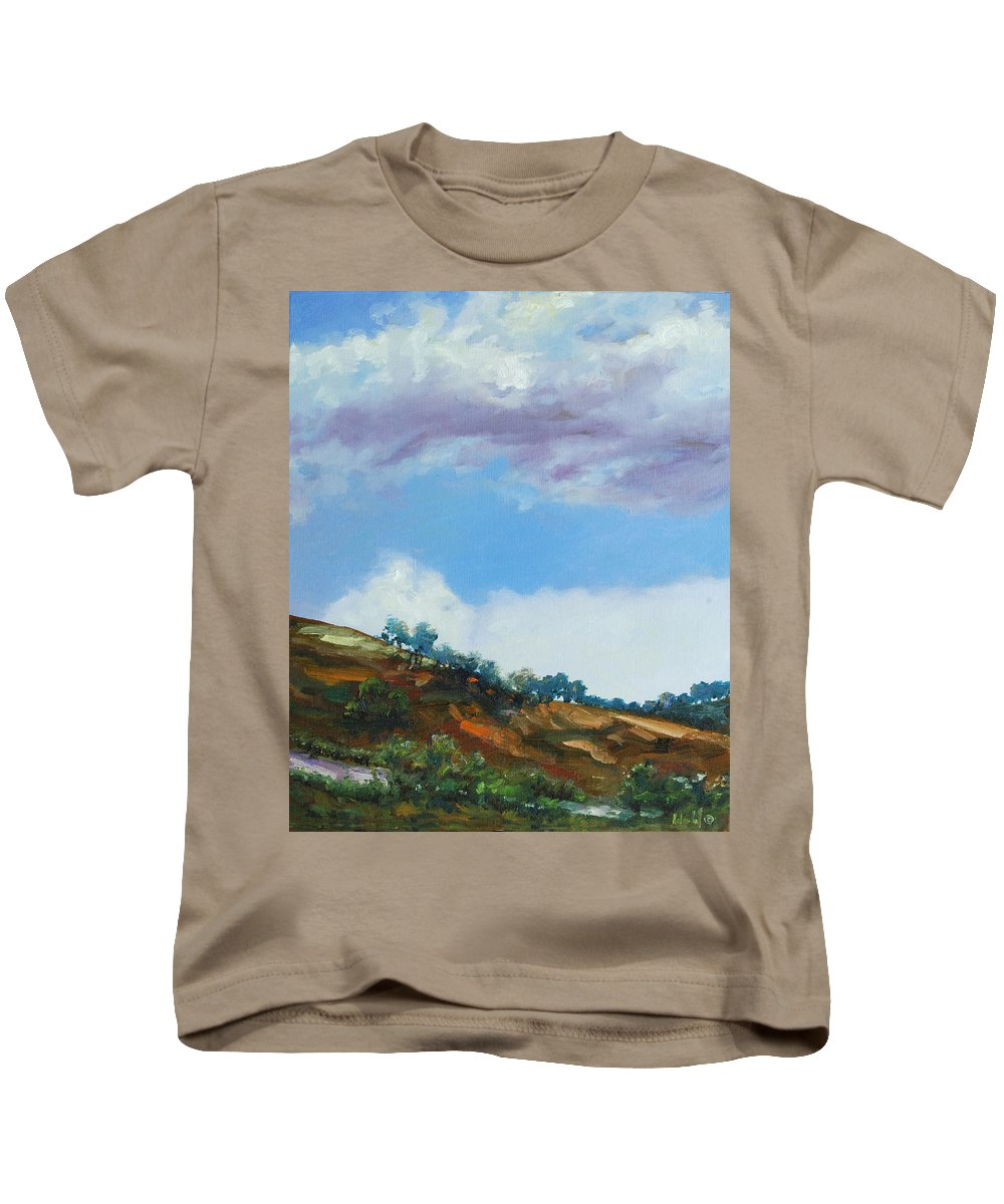 Sky Kids T-Shirt featuring the painting Clouds by Rick Nederlof