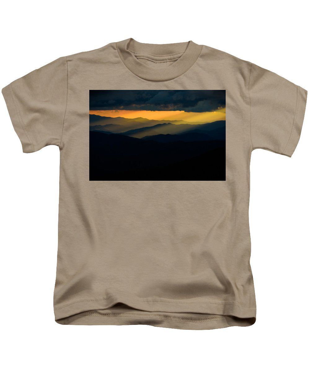 Landscape Kids T-Shirt featuring the photograph Cloudy Night by Rob Mould