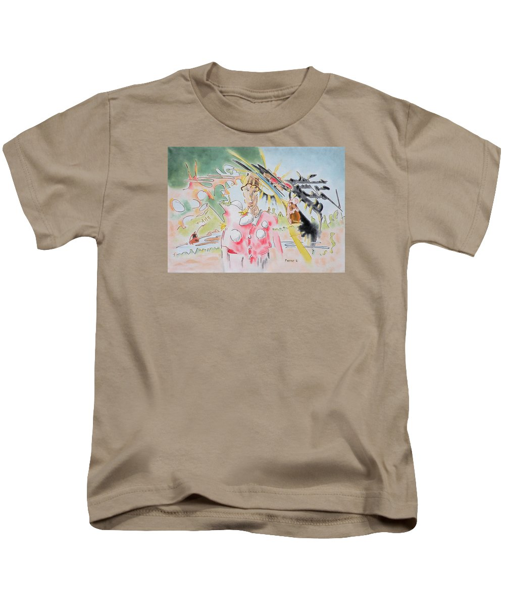 Angel Kids T-Shirt featuring the painting Clown by Dave Martsolf