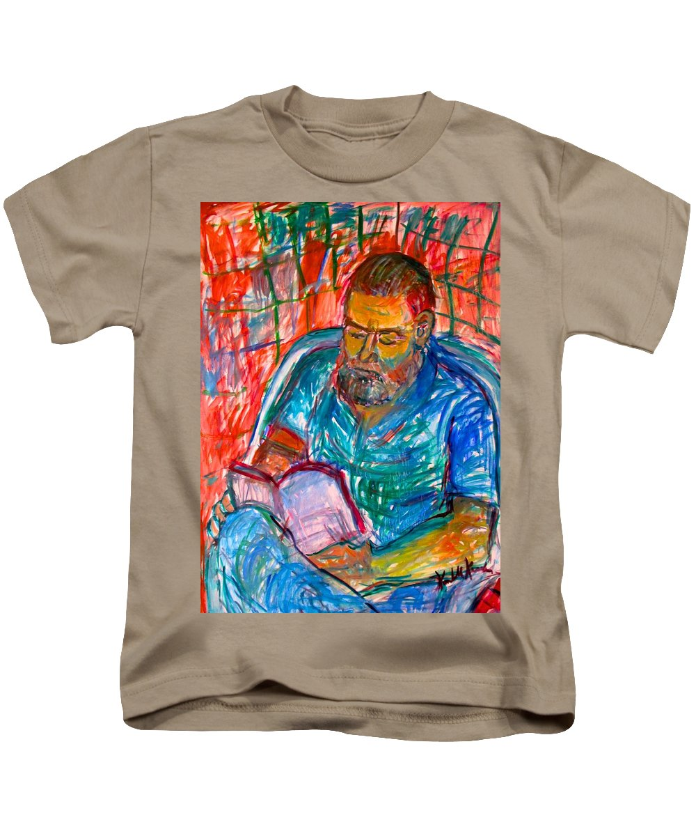 Portrait Kids T-Shirt featuring the painting Clyde Stage Two by Kendall Kessler