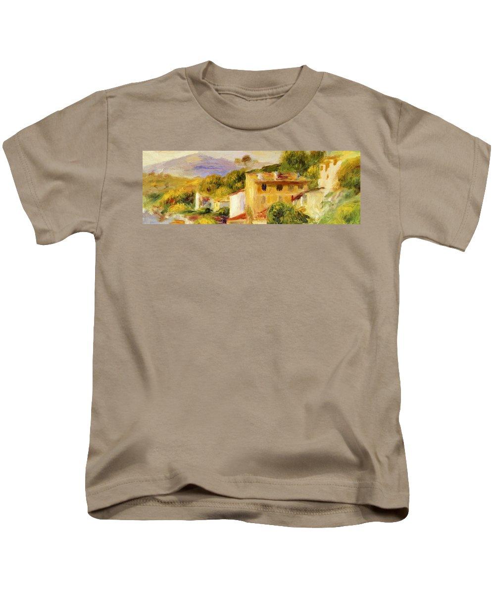 Coastal Kids T-Shirt featuring the painting Coastal Landscape 1904 by Renoir PierreAuguste
