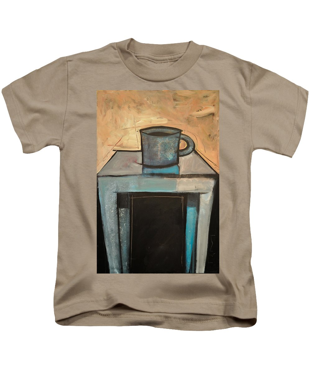 Coffee Kids T-Shirt featuring the painting Coffee Table by Tim Nyberg