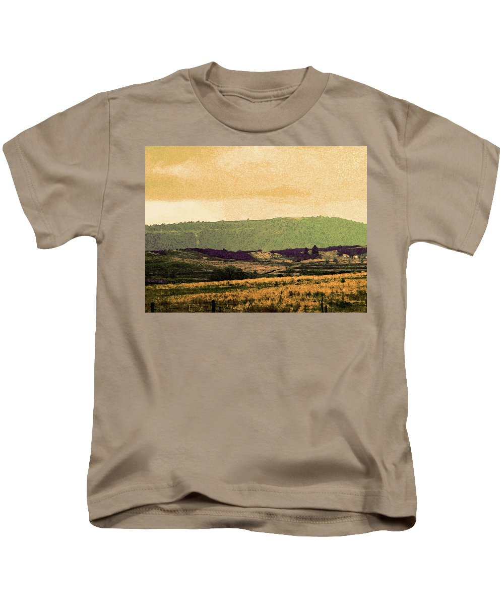Abstract Kids T-Shirt featuring the photograph Colorado Ranchlands by Lenore Senior