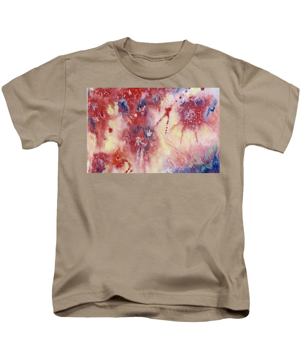 Abstrac Kids T-Shirt featuring the pastel Colorful Emotion by Johane Gareau