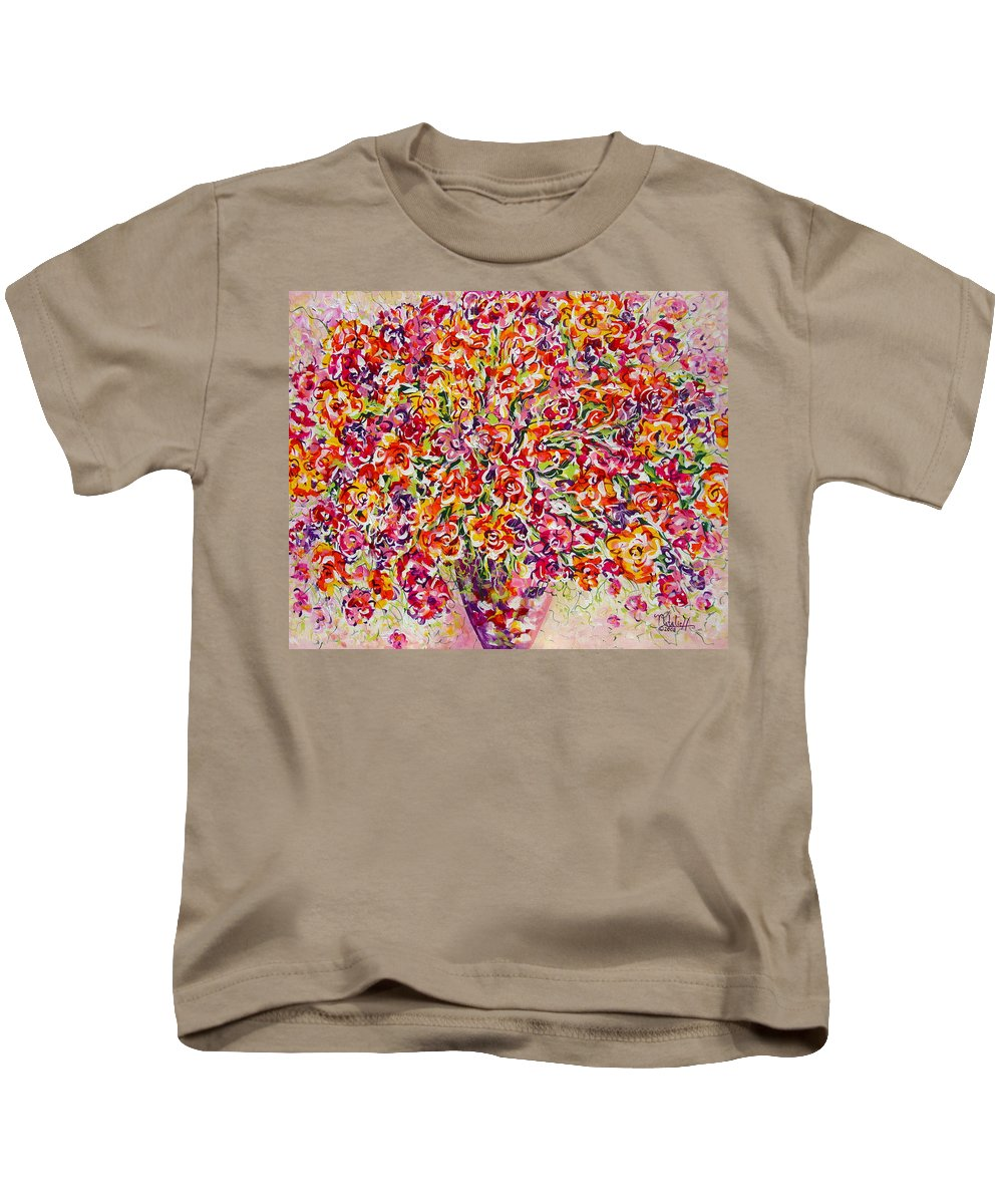 Framed Prints Kids T-Shirt featuring the painting Colorful Organza by Natalie Holland