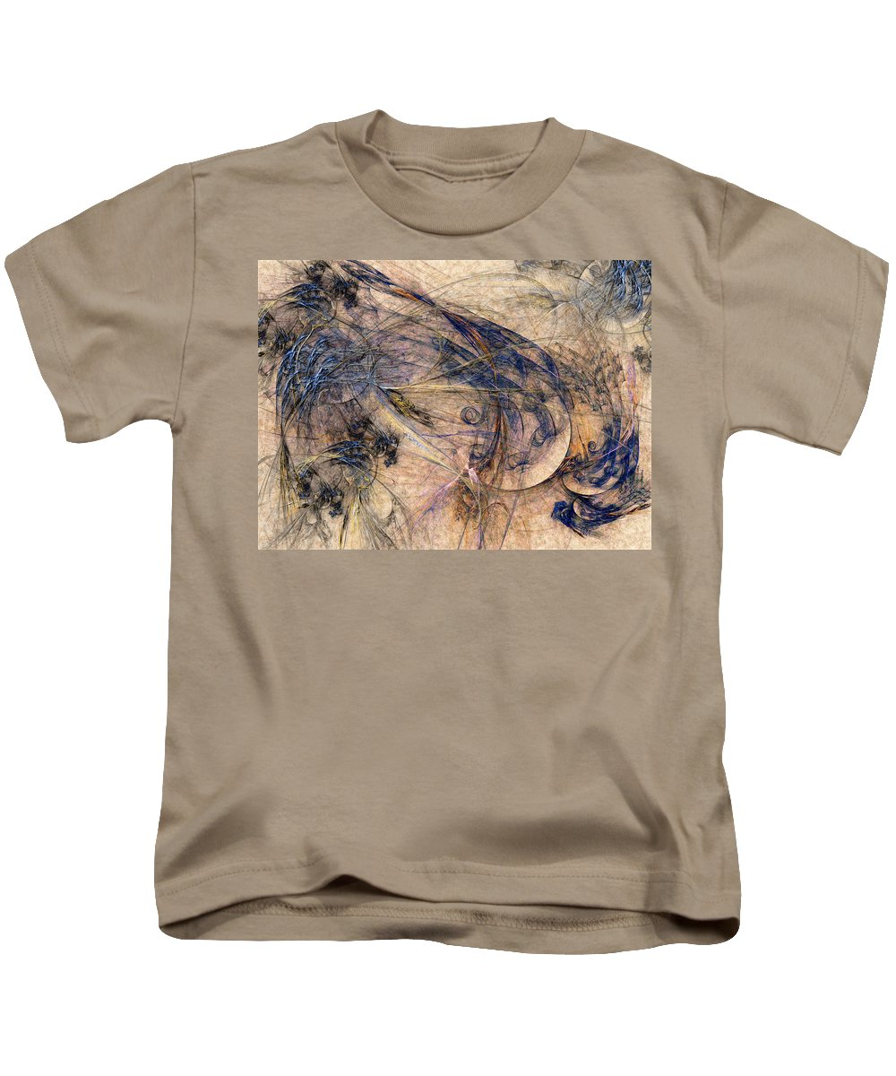 Abstract Kids T-Shirt featuring the digital art Conflicted by Casey Kotas