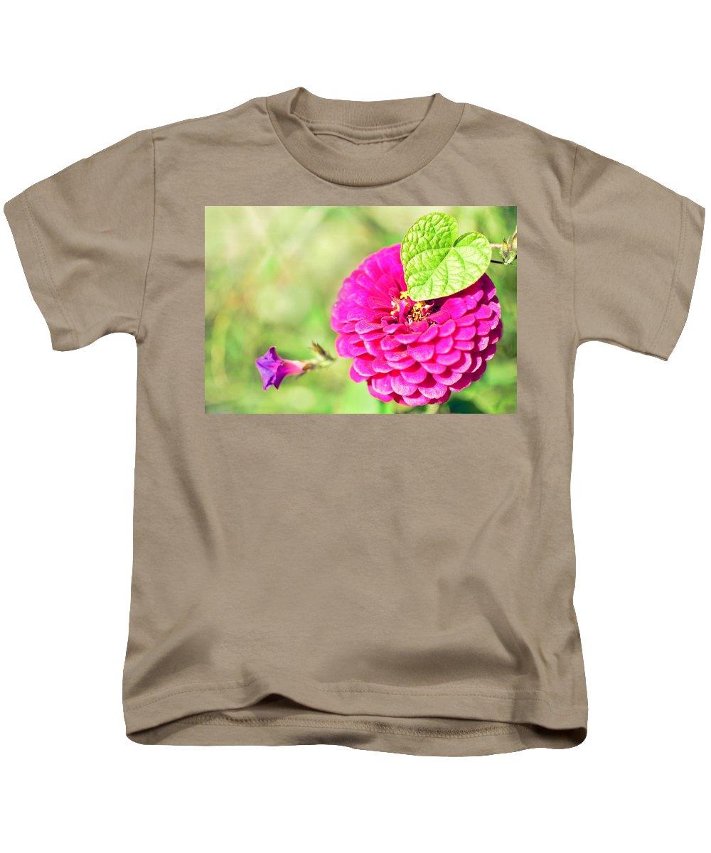 Purple Kids T-Shirt featuring the photograph Connection by Rachel Dyson Hrpcek