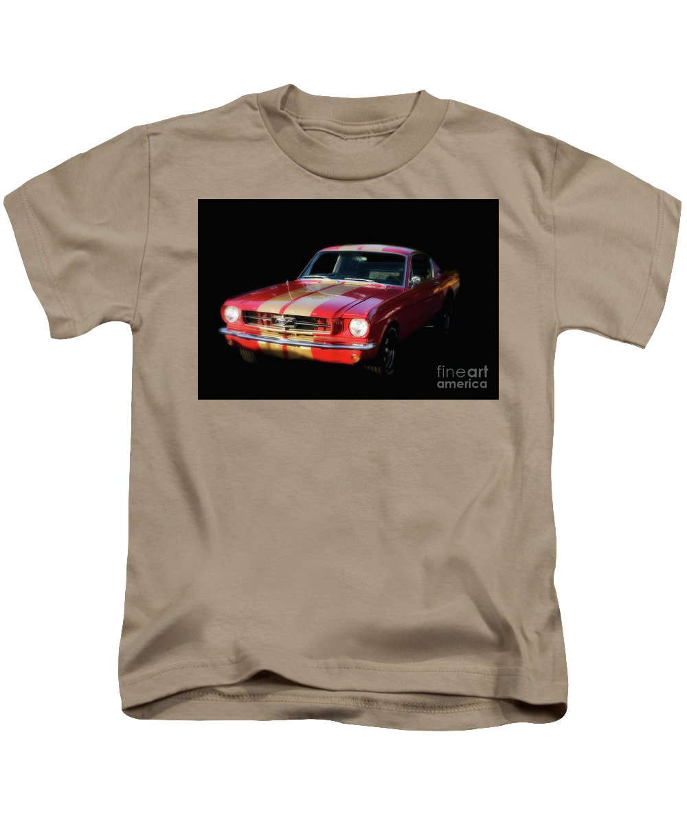 Mustang Kids T-Shirt featuring the photograph Cool Mustang by Francine Hall