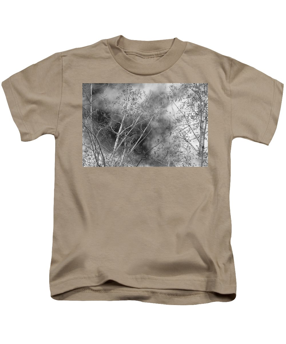 Cottonwood Kids T-Shirt featuring the photograph Cottonwood Skies by Jeanette C Landstrom