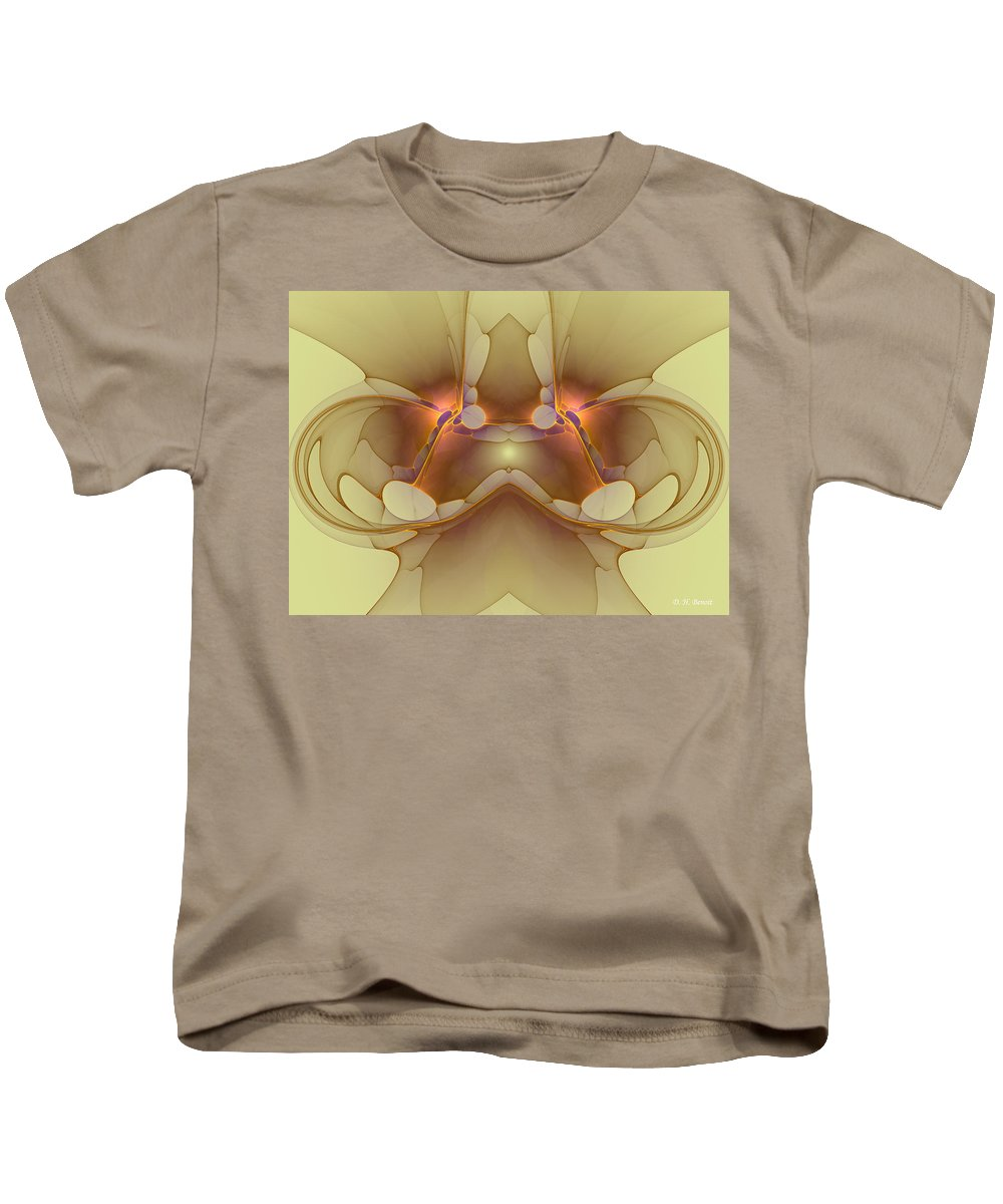 Apophysis Kids T-Shirt featuring the digital art Creature From Beyond by Deborah Benoit
