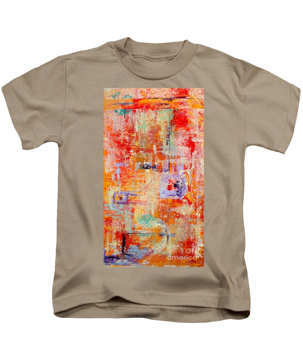 Large Format Painting Kids T-Shirt featuring the painting Crescendo by Pat Saunders-White