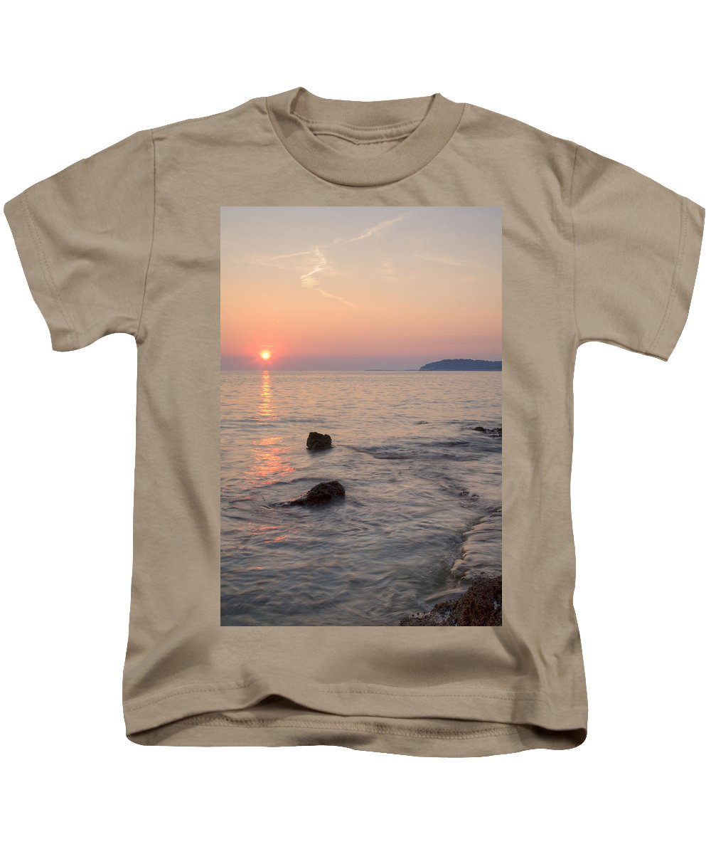 Sea Kids T-Shirt featuring the photograph Croatian Sunsets by Ian Middleton