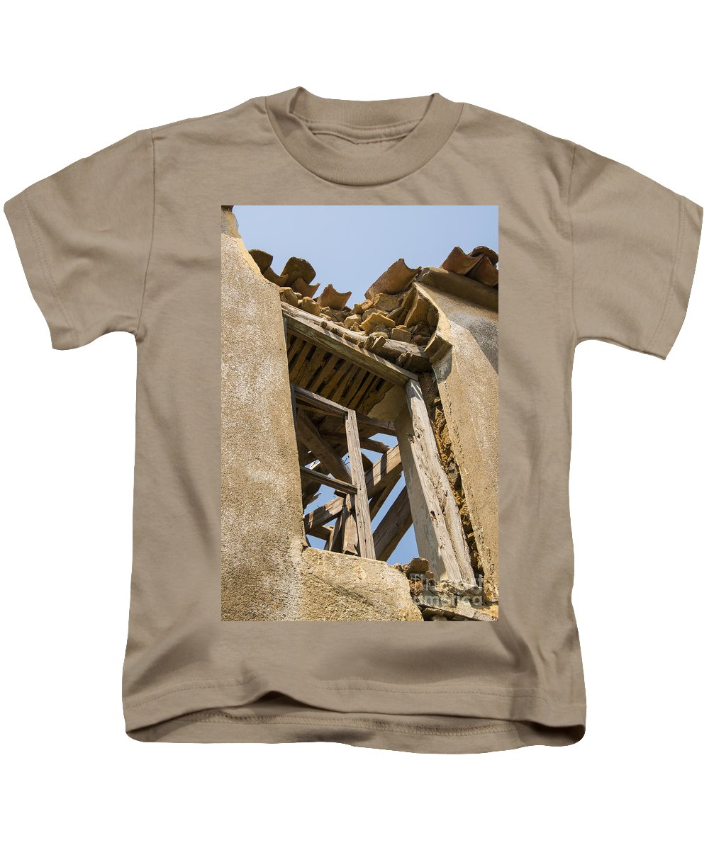 Tepekoy Kids T-Shirt featuring the photograph Crumbling by Bob Phillips