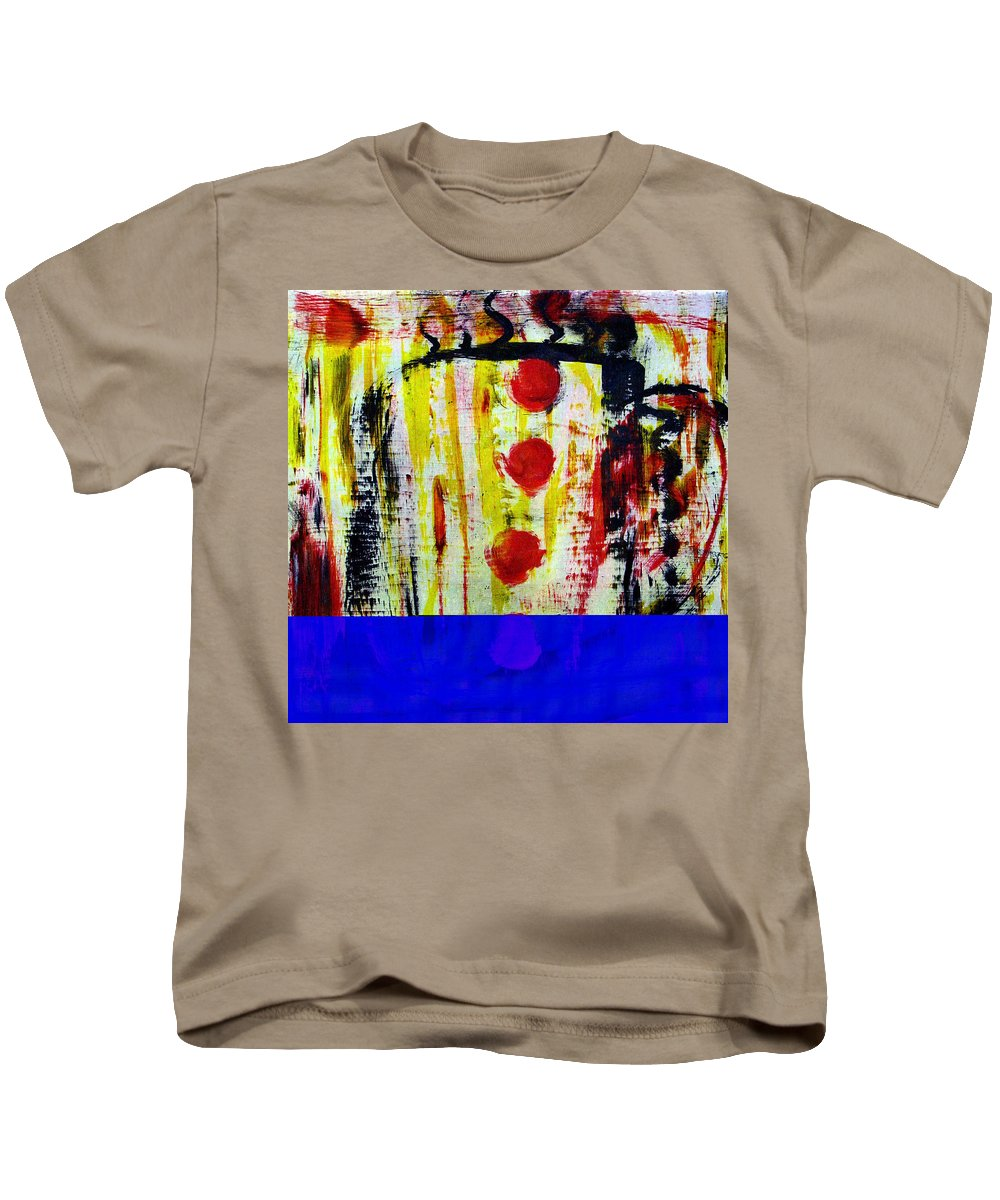 Coffee Kids T-Shirt featuring the painting Cup Of Java by Wayne Potrafka