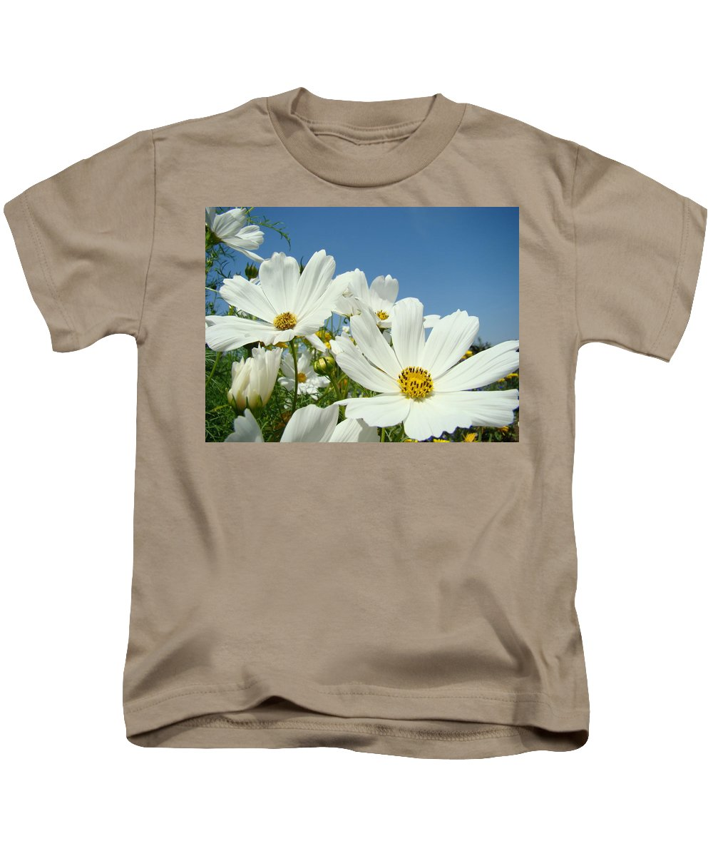 Daisy Kids T-Shirt featuring the photograph Daisies Flowers Art Prints White Daisy Flower Gardens by Baslee Troutman