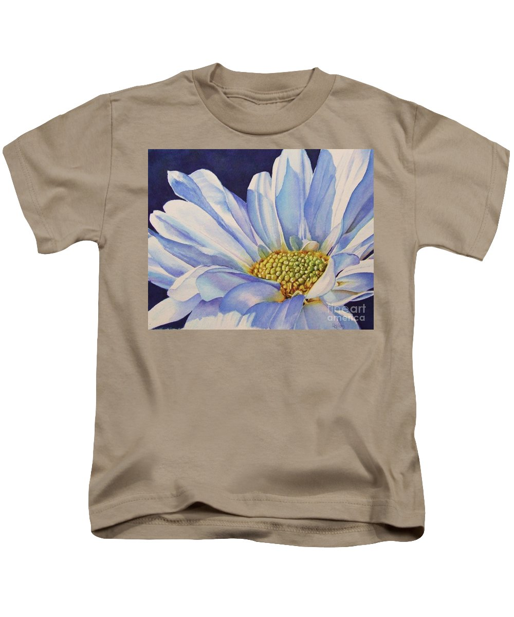 Daisy Kids T-Shirt featuring the painting Daisy by Greg and Linda Halom