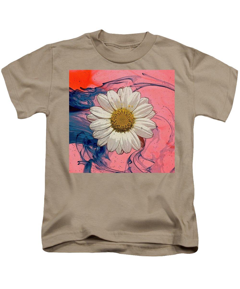 Daisy Kids T-Shirt featuring the photograph Daisy Swirls 1 by Jim And Emily Bush