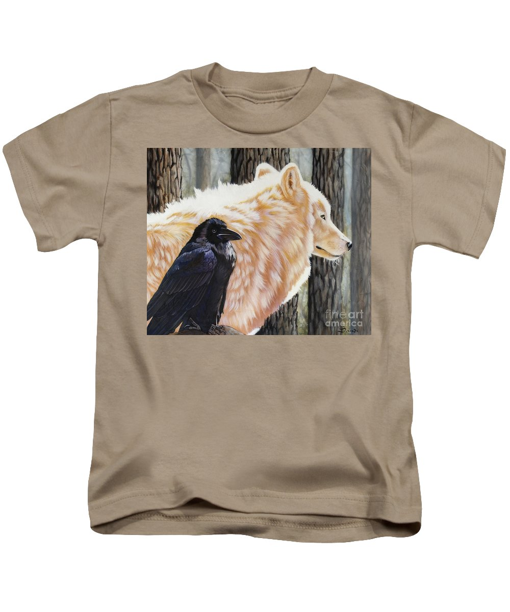 Acrylic Kids T-Shirt featuring the painting Dance In The Light by Sandi Baker