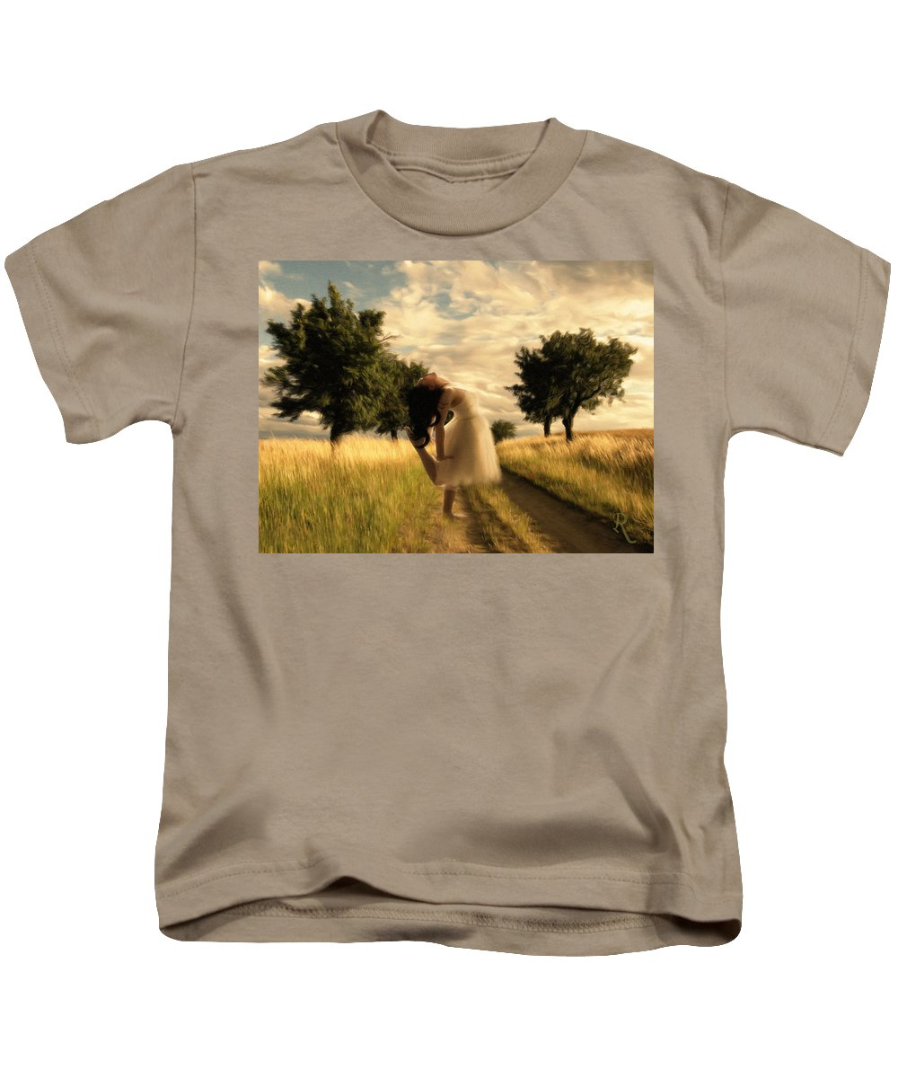 Impressionism Kids T-Shirt featuring the painting Dance Until Dawn by Georgiana Romanovna