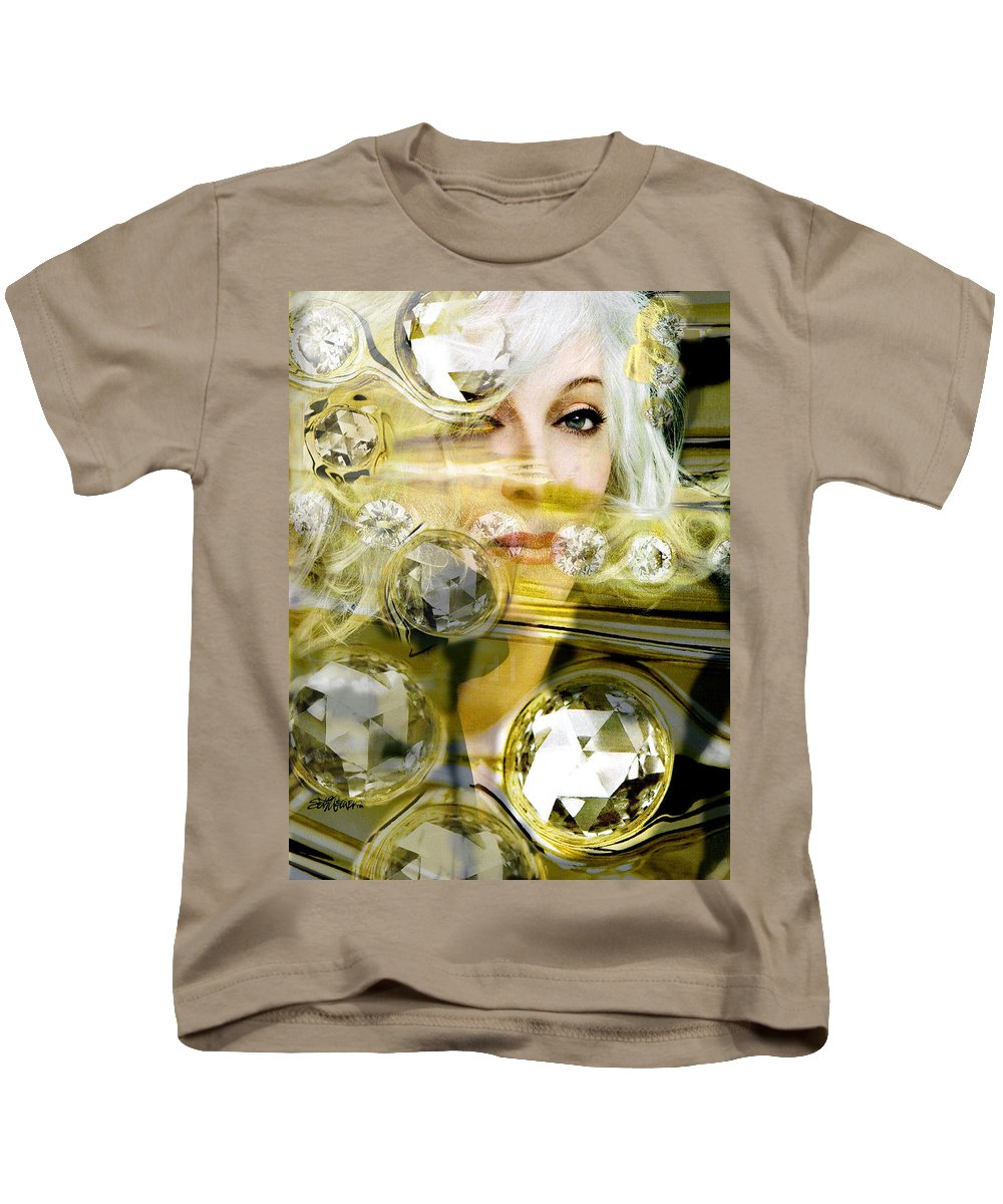 Women Kids T-Shirt featuring the digital art Darling Diamonds by Seth Weaver
