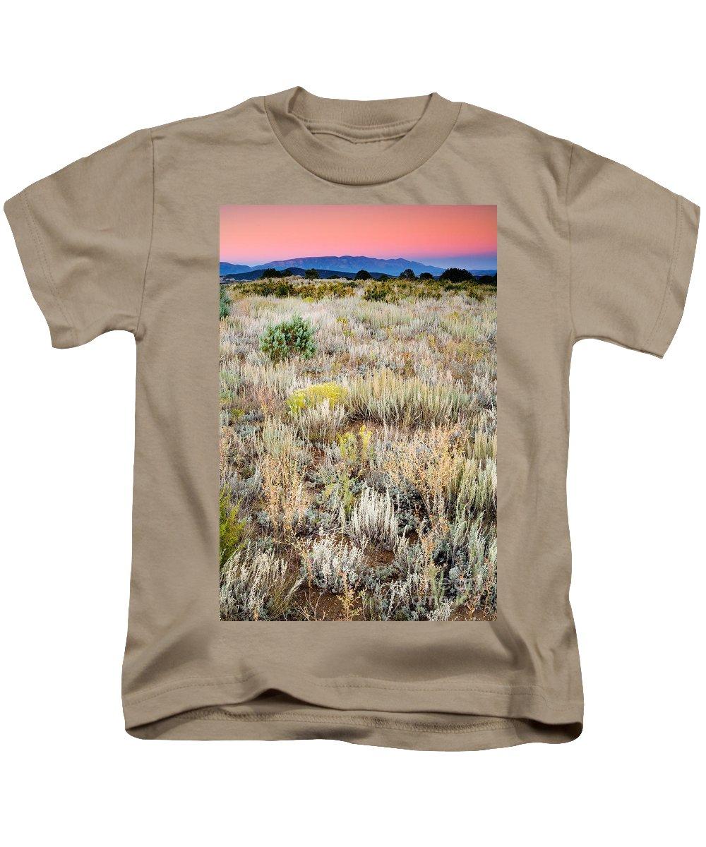 Dawn Kids T-Shirt featuring the photograph Dawn Near Ruidoso Nm by Matt Suess