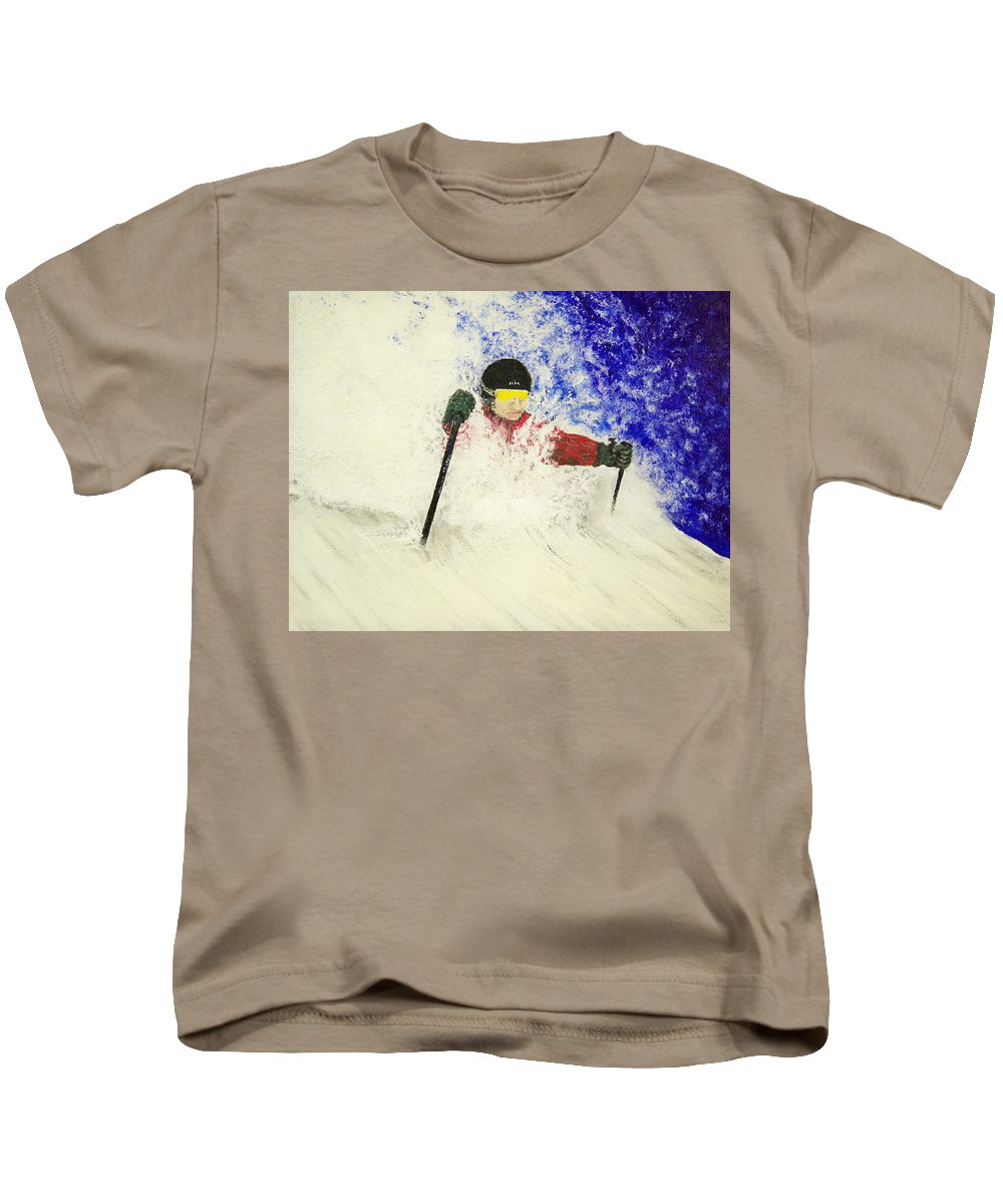 Utah Kids T-Shirt featuring the painting Deeeep by Michael Cuozzo