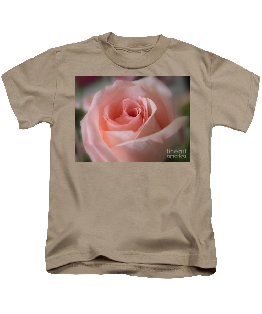 The Power Of Pink Kids T-Shirt featuring the photograph Delicate Pink Rose by Carol Groenen