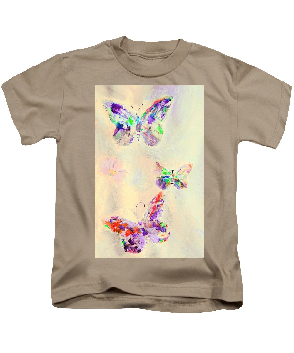 Departure Kids T-Shirt featuring the digital art Departure In Purpose And Life As You Are By Lisa Kaiser by Lisa Kaiser