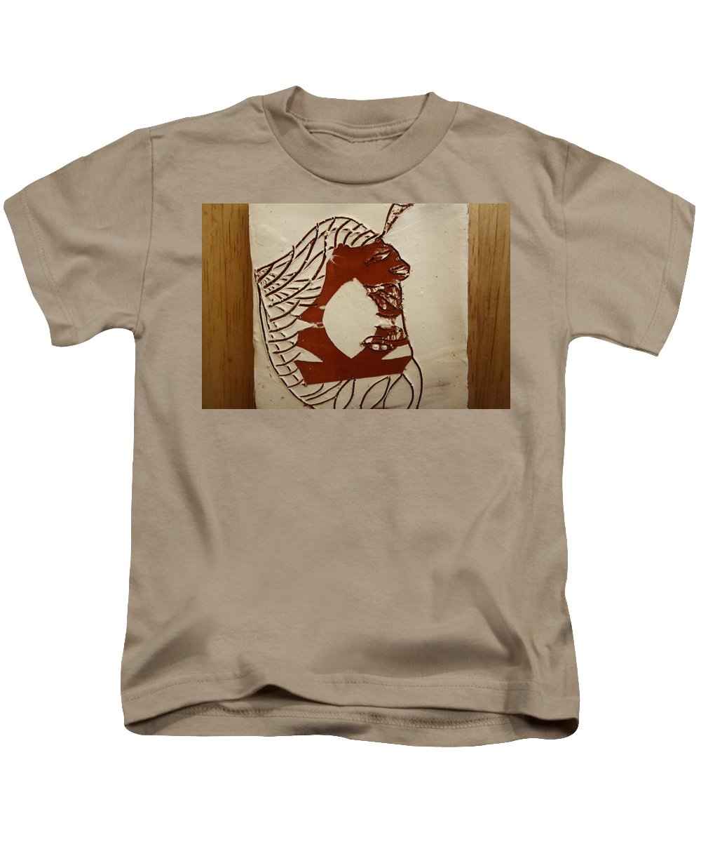 Jesus Kids T-Shirt featuring the ceramic art Dionte - Tile by Gloria Ssali