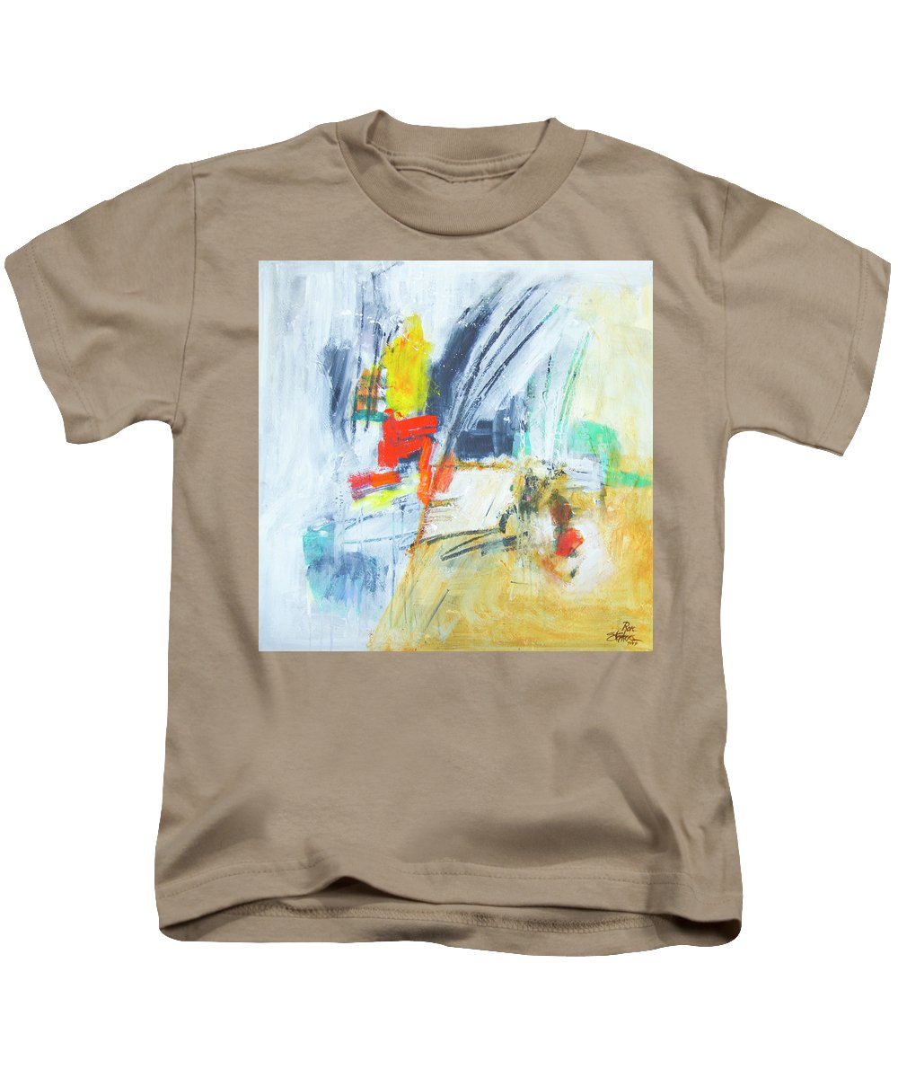 Abstract Kids T-Shirt featuring the painting Discovery Three by Ron Stephens