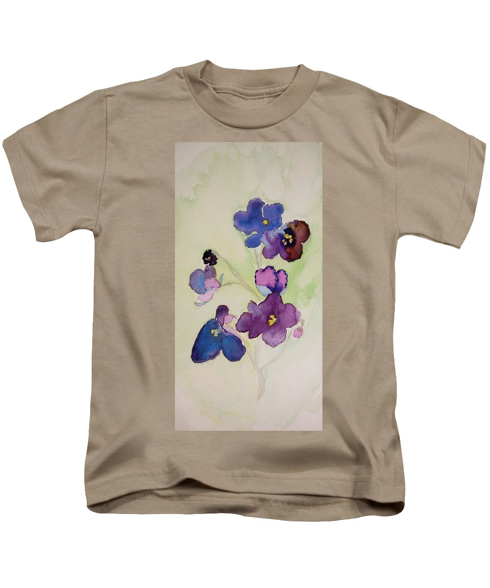 Violets Kids T-Shirt featuring the painting Diversity by Beverley Harper Tinsley