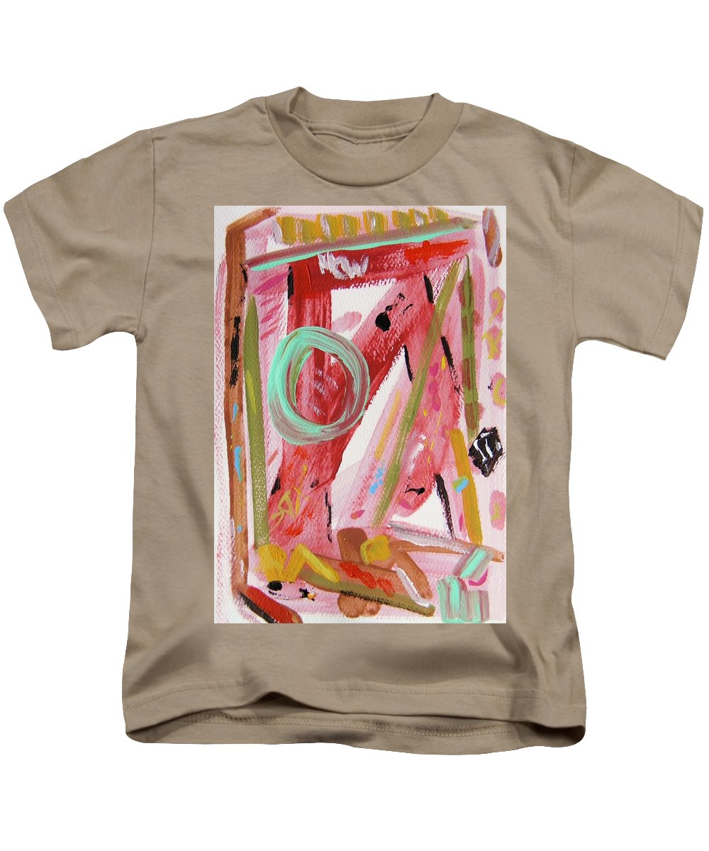 Acrylic Kids T-Shirt featuring the painting Do Not Fall Asleep At The Wheel Of Life by Mary Carol Williams