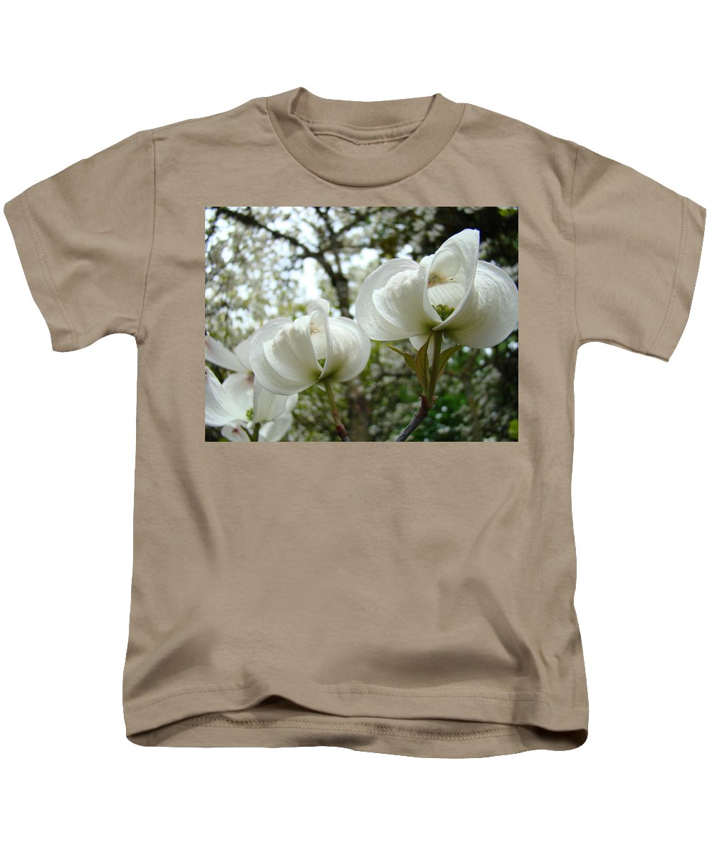 Dogwood Kids T-Shirt featuring the photograph Dogwood Flowers White Dogwood Trees Blossoming 8 Art Prints Baslee Troutman by Baslee Troutman