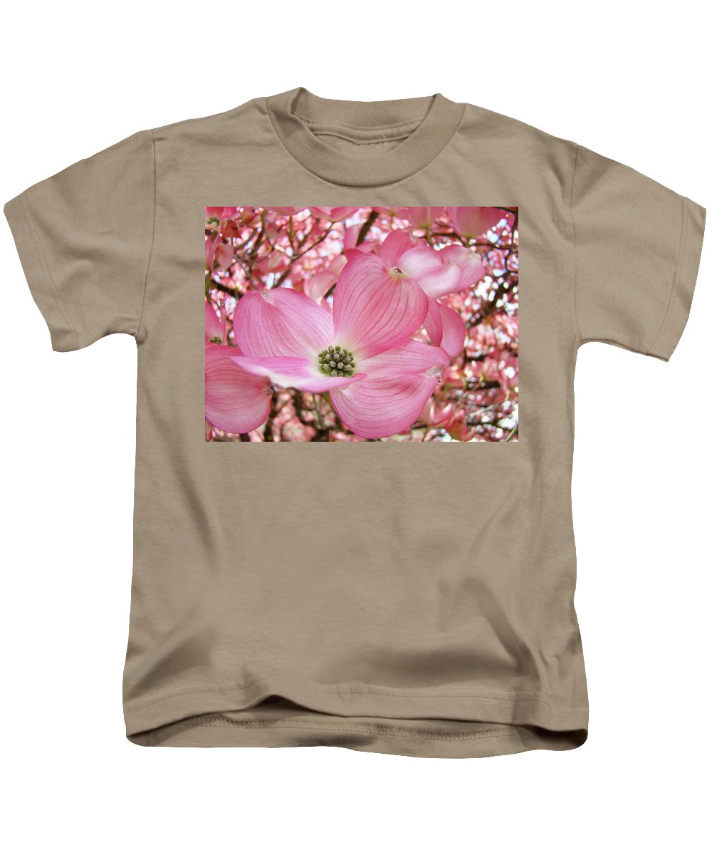 Dogwood Kids T-Shirt featuring the photograph Dogwood Tree 1 Pink Dogwood Flowers Artwork Art Prints Canvas Framed Cards by Baslee Troutman