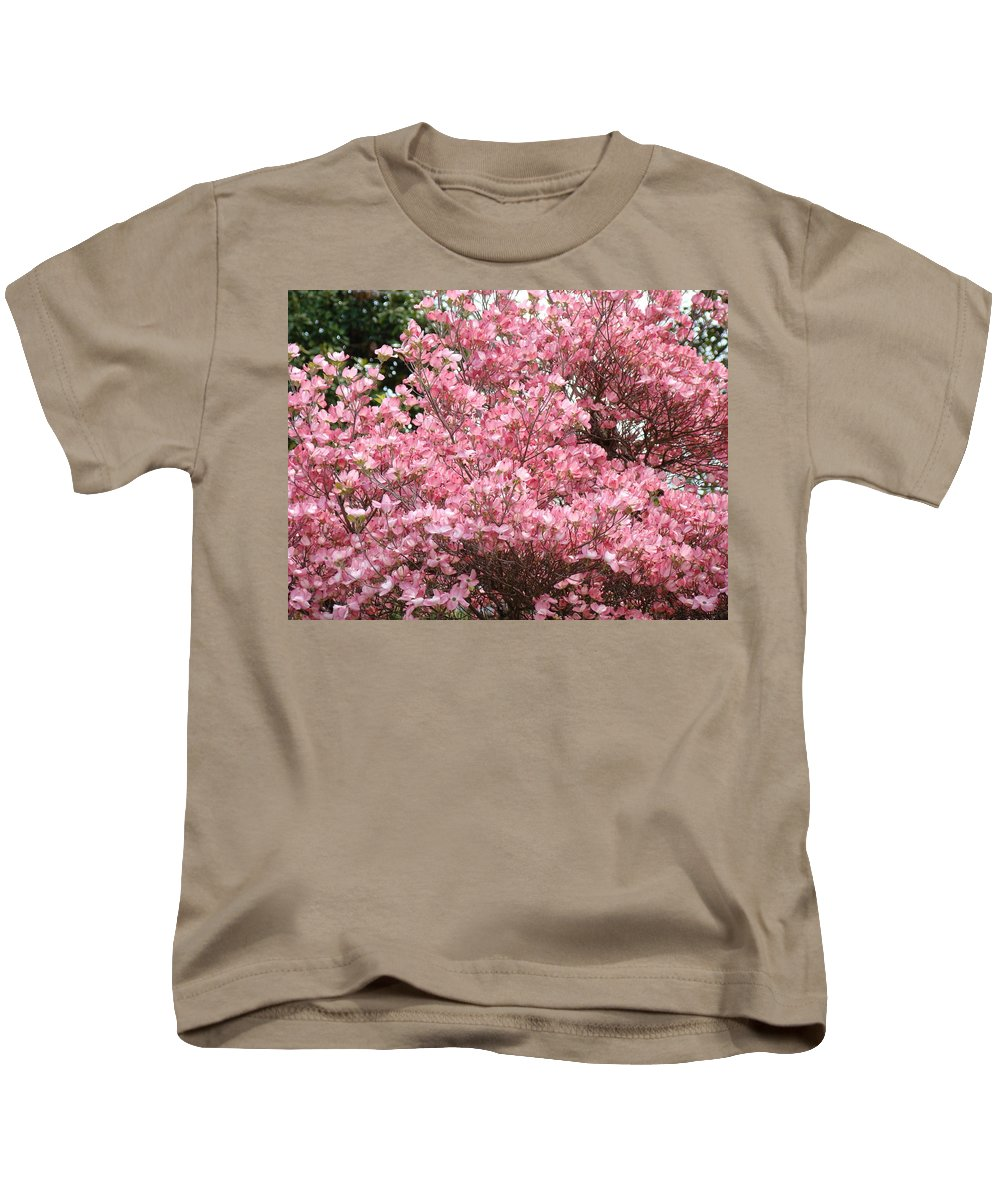 Dogwood Kids T-Shirt featuring the photograph Dogwood Tree Flowers Art Prints Canvas Pink Dogwood by Baslee Troutman