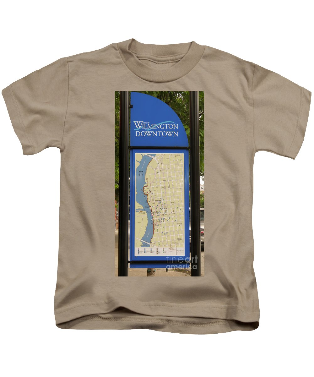 Downtown Wilmington North Carolina Kids T-Shirt featuring the photograph Downtown Wilmington by Kerri Farley